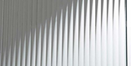 Star Glass Product Sample - Narrow Reeded Pattern